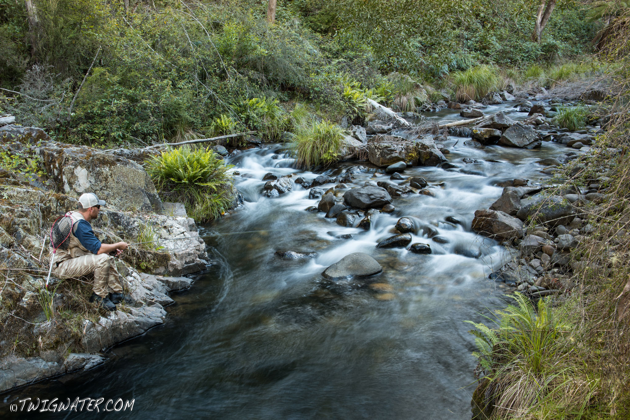 Snowy mountains trout stream on twigwater.com