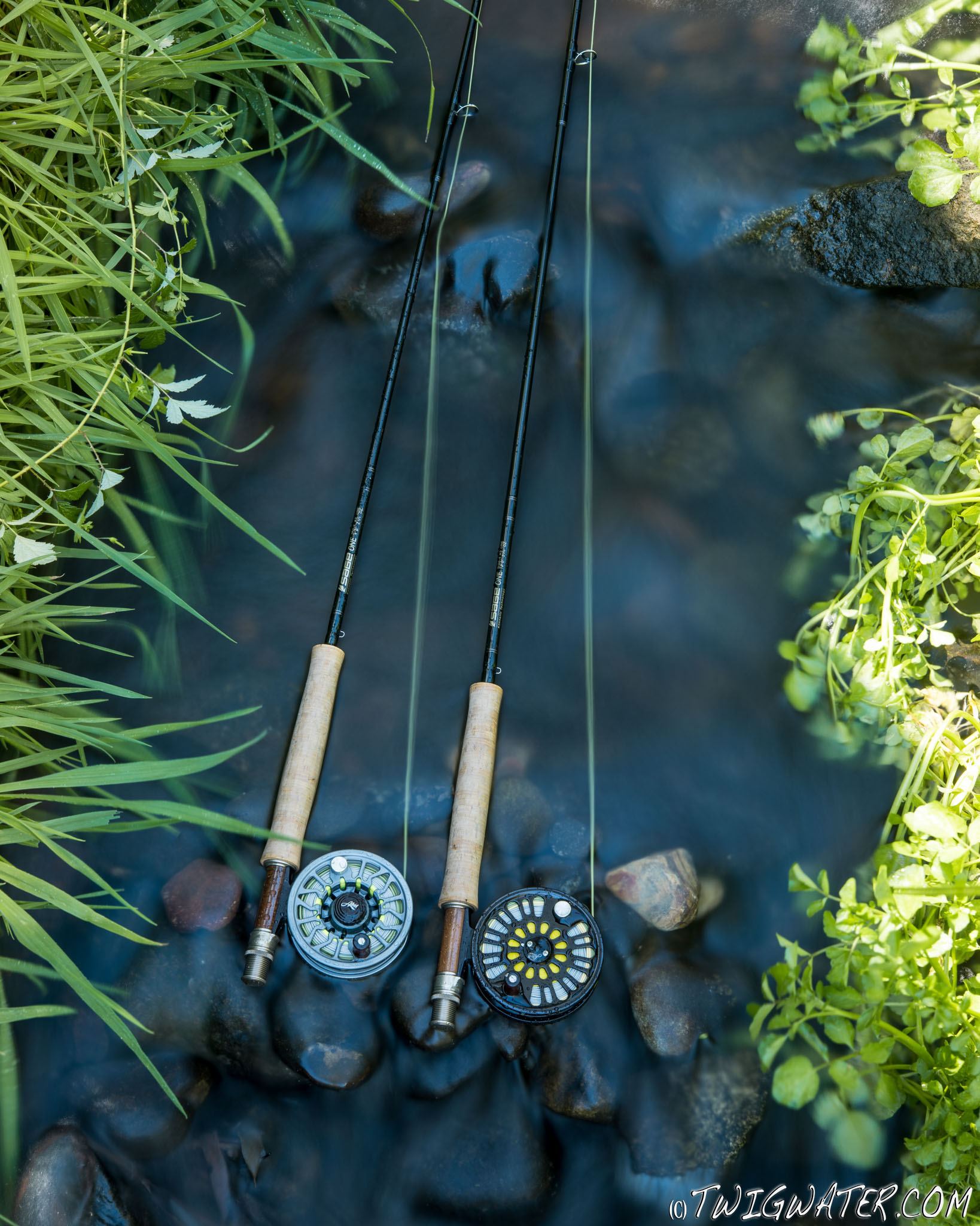 Sage One 5 weight fly rods and Abel reels