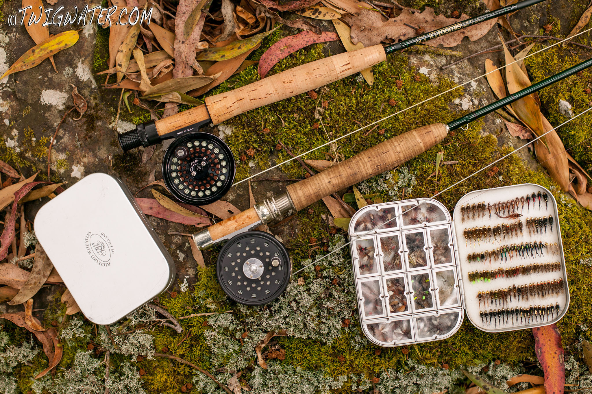 Wheatley Fly Boxes and twig rods