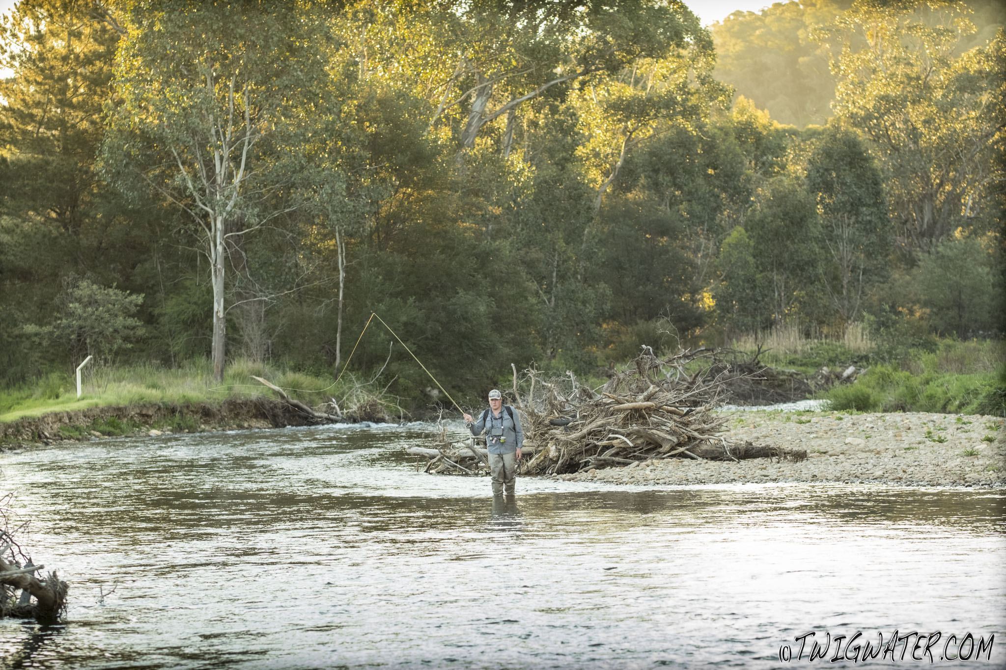 Fly fishing the Ovens River on Twigwater